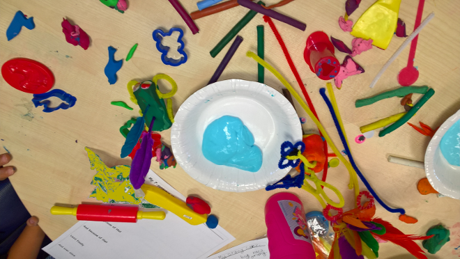 Summer Messy #Play and Story #Writing in RBKC Library